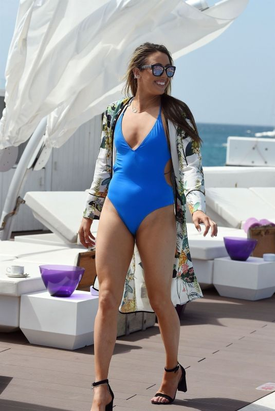 JADE JONES in Swimsuit at a Pool Party in Cape Verde 02/01/2018