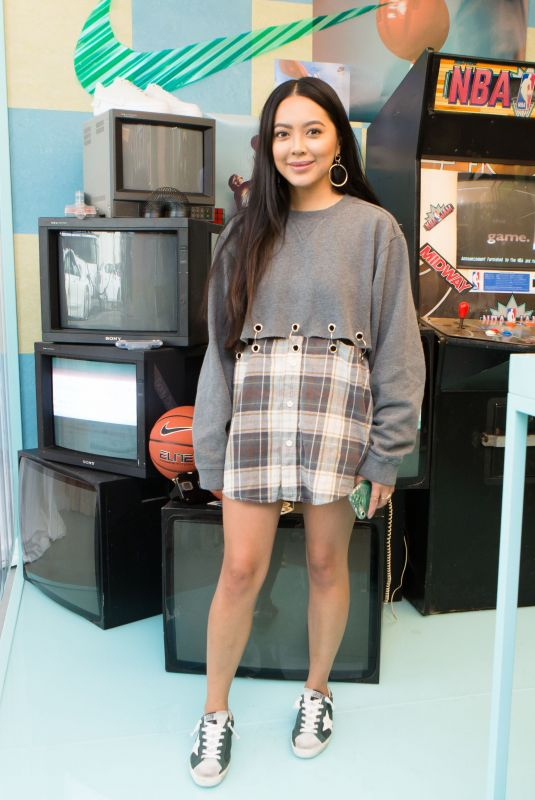 JADE MUNSTER at Revolve x Nike 1s Reimagined Pop-up Event in Los Angeles 02/16/2018