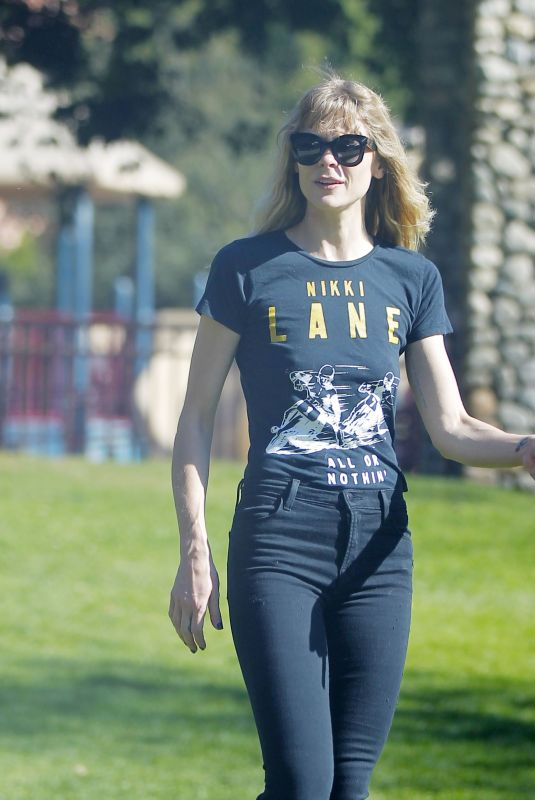 JAIME KING at a Park in Beverly Hills 02/04/2018
