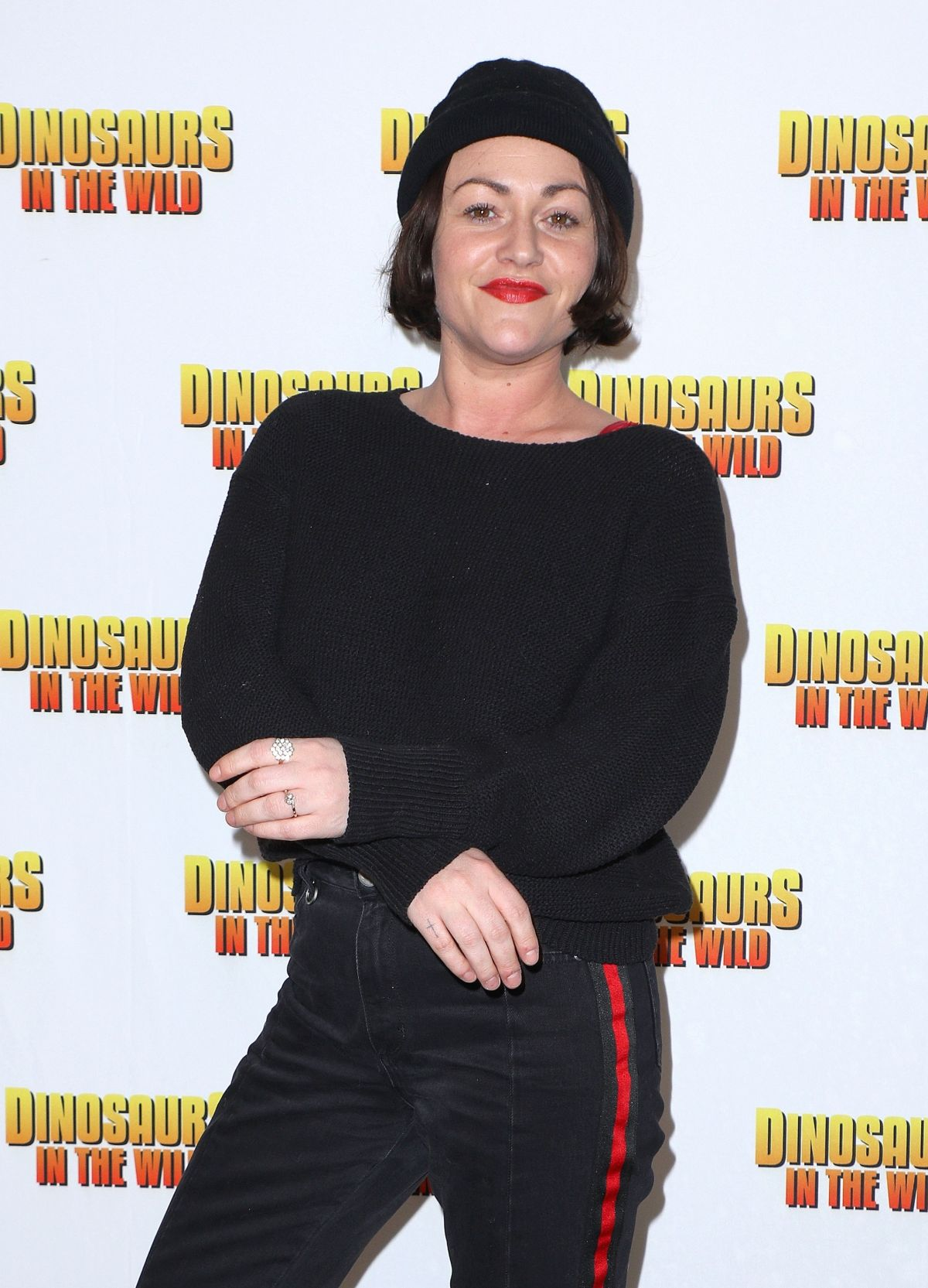 JAIME WINSTONE at Dinosaurs in the Wild Exhibition in London
