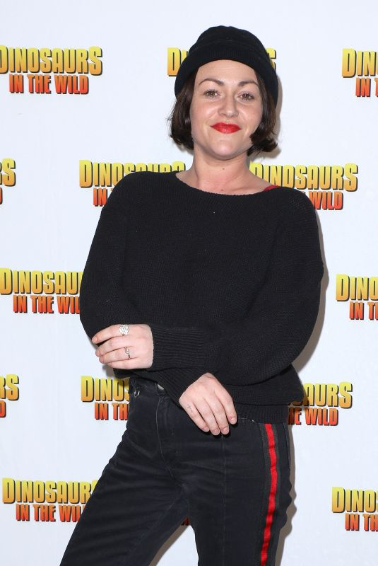 JAIME WINSTONE at Dinosaurs in the Wild Exhibition in London 02/13/2018