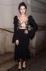 JAIMIE ALEXANDER Arrives at Christian Siriano Show at New York Fashion Week 02/10/2018