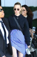 JANUARY JONES Leaves CFDA Luncheon at Chateau Marmont in Los Angeles 02/20/2018