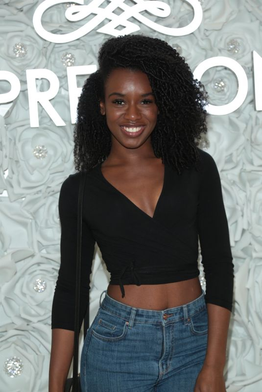 JASMINE RENEE THOMAS at Gretchen Christine x Impressions Vanity PopUpParty in West Hollywood 02/10/2018