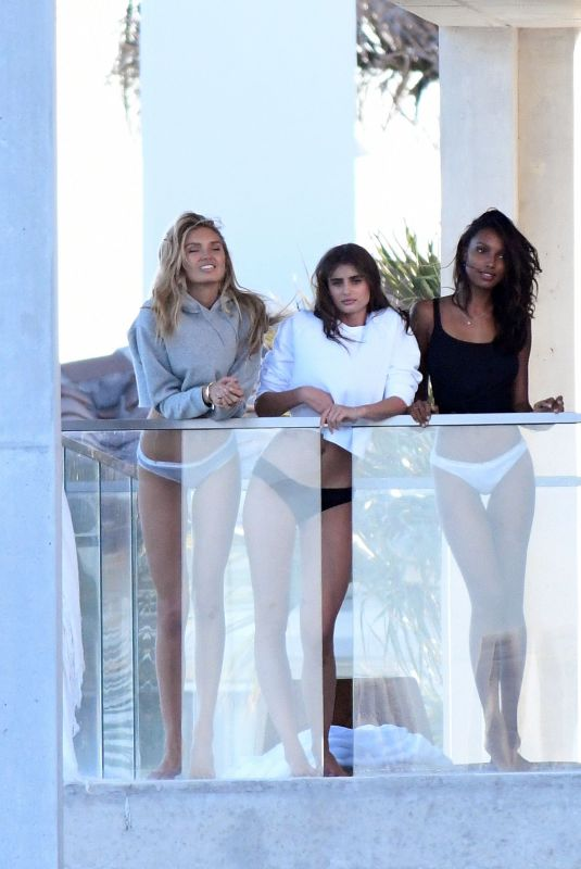 JASMINE TOOKES, ROMEE STRIJD and TAYLOR HILL on the Set of a Photoshoot in Miami 02/16/2018