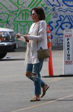 JENNA DEWAN in Ripped Jeans Out in Beverly Hills 02/19/2018