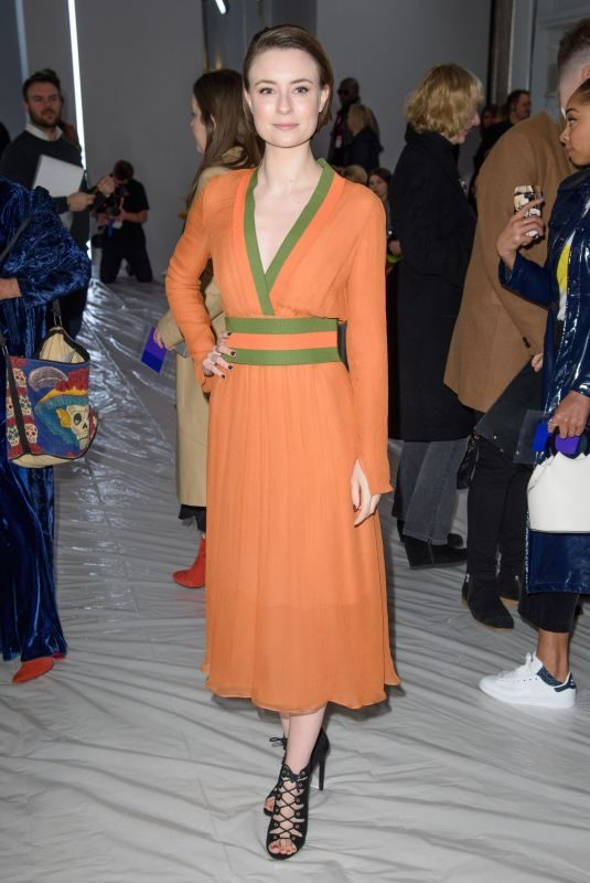 JENNIFER KIRBY at Jasper Conran Show at London Fashion Week 02/17/2018