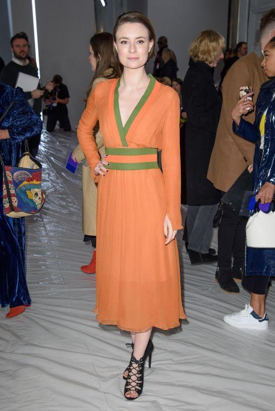 JENNIFER KIRBY at Jasper Conran Show at London Fashion Week 02/17/2018
