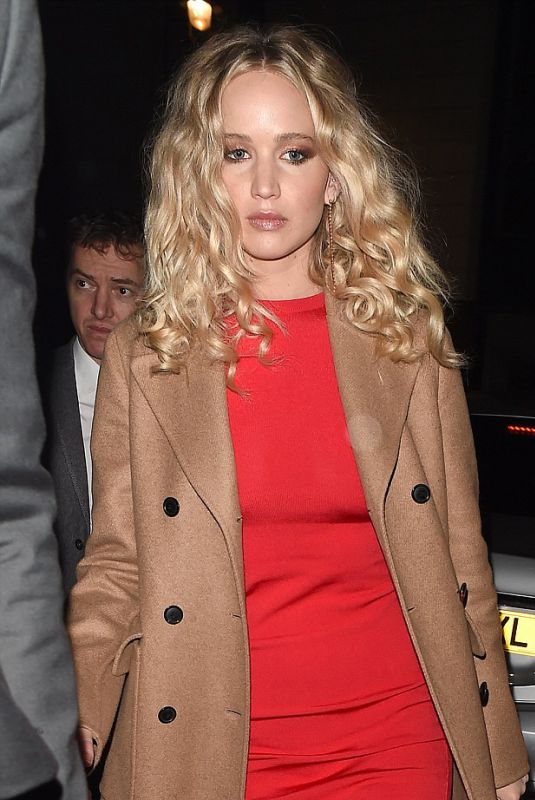 JENNIFER LAWRENCE at Red Sparrow Premiere After-party in London 02/19/2018