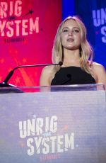 JENNIFER LAWRENCE at Unrigged Live! at 2018 Unrig the System Summit in New Orleans 02/03/2018