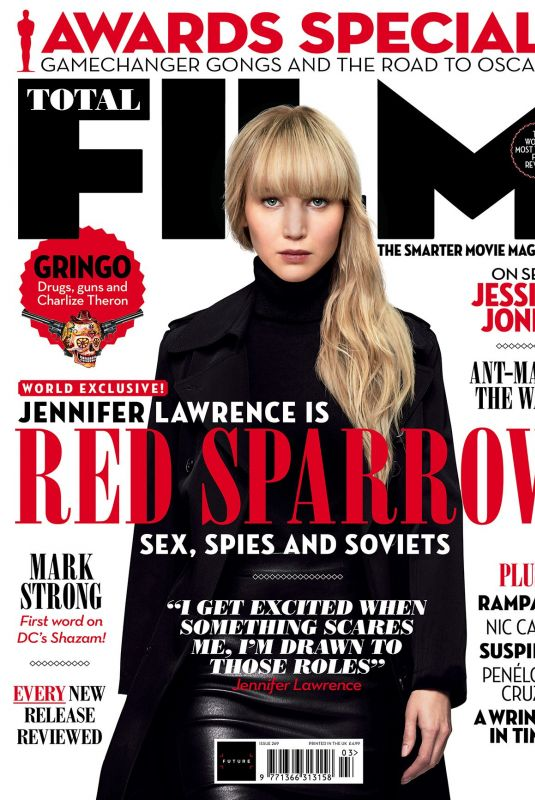 JENNIFER LAWRENCE on the Cover of Total Film Magazine, March 2018