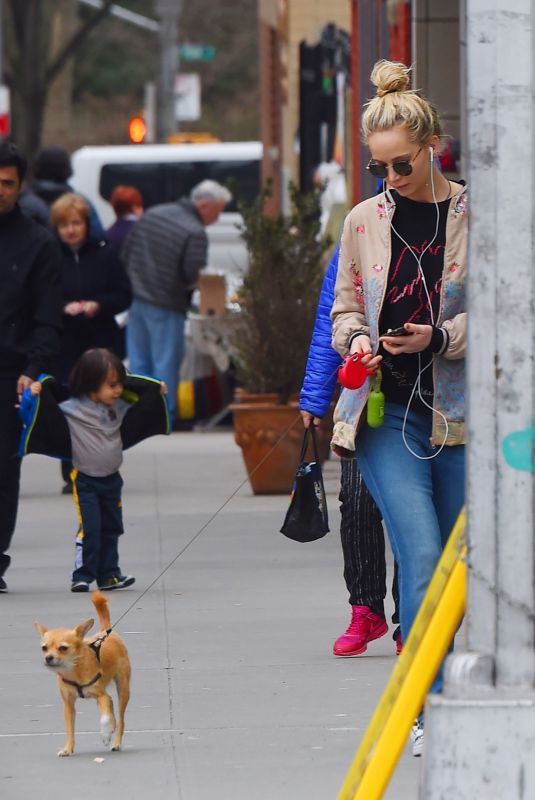 JENNIFER LAWRENCE Out with Her Dog in New York 02/24/2018