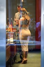 JENNIFER LOPEZ and Alex Rodriguez Shopping for Jewelry in Miami 02/14/2018