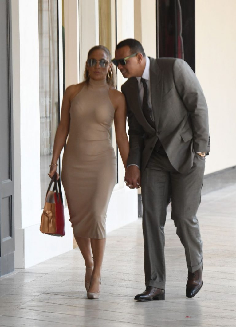 JENNIFER LOPEZ and Alex Rodriguez Out in New York 09/08