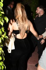 JENNIFER LOPEZ Out for Dinner at Casa Tua in Miami 02/14/2018