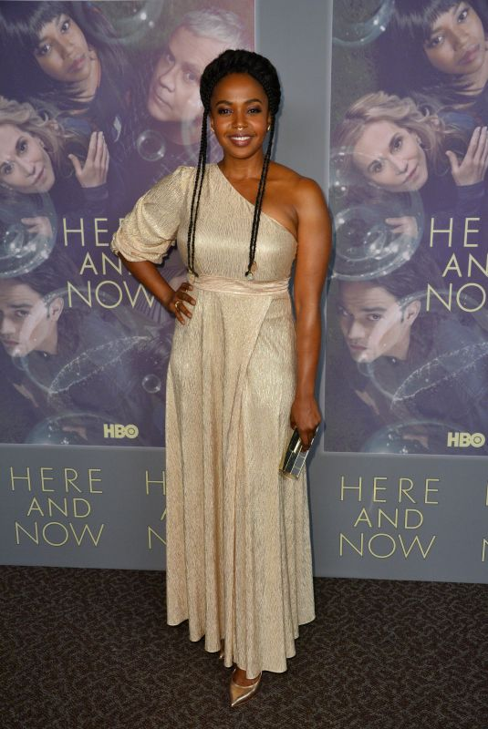 JERRIKA HINTON at Here and Now Premiere in Los Angeles 02/05/2018
