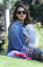JESSICA ALBA at Coldwater Canyon Park in Beverly Hills 02/17/2018
