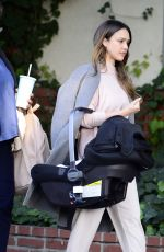 JESSICA ALBA Leaves a Friends House in Los Angeles 02/20/2018