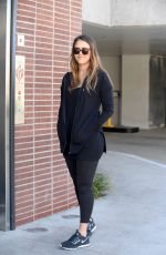 JESSICA ALBA Out for Lunch in Century City 02/12/2018