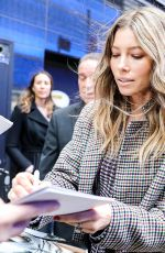 JESSICA BIEL Arrives at Good Morning America in New York 02/12/2018