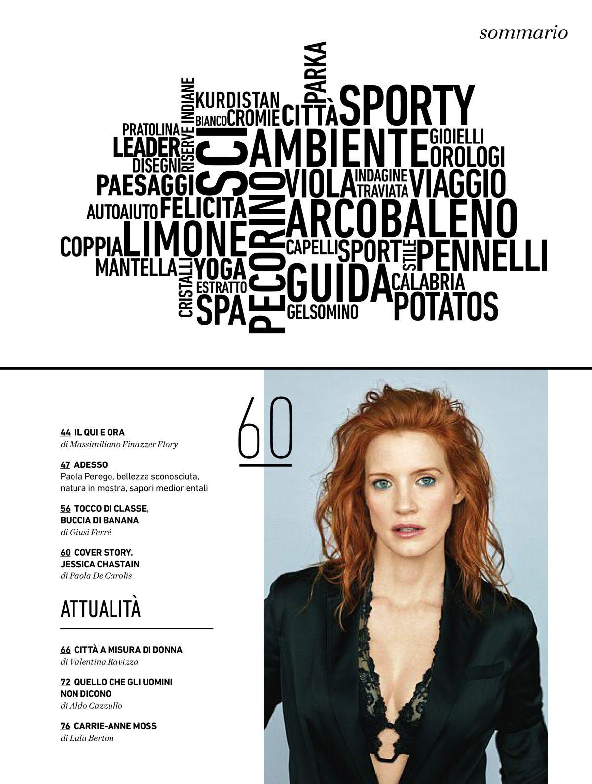 9bf59cbf5689 JESSICA CHASTAIN in Io Donna Del Corriere Della Sera