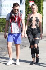 JESSICA SERFATY and Ed Westwick Out for Lunch in West Hollywood 02/01/2018