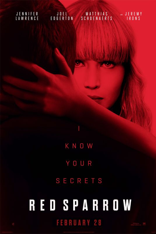JENNIFER LAWRENCE - Red Sparrow Movie Posters and Stills