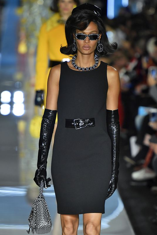 JOAN SMALLS at Moschino Runway Show at Milan Fashion Week 02/21/2018