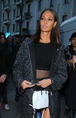 JOAN SMALLS Leaves Alberta Ferretti Fashion Show in Milan 02/21/2018