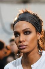 JOAN SMALLS on the Backstage of Tom Ford Show at New York Fashion Week 02/08/2018