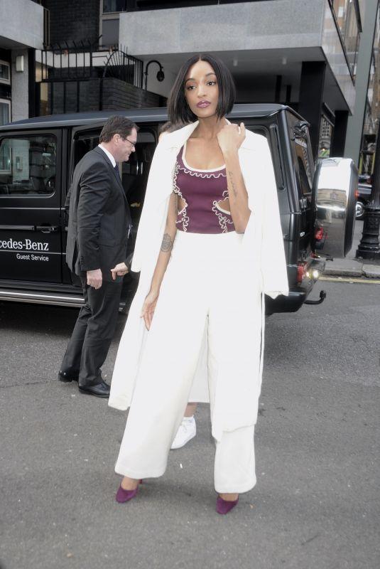 JOURDAN DUNN at Mulberry Fashion Show at London Fashion Week 02/16/2018