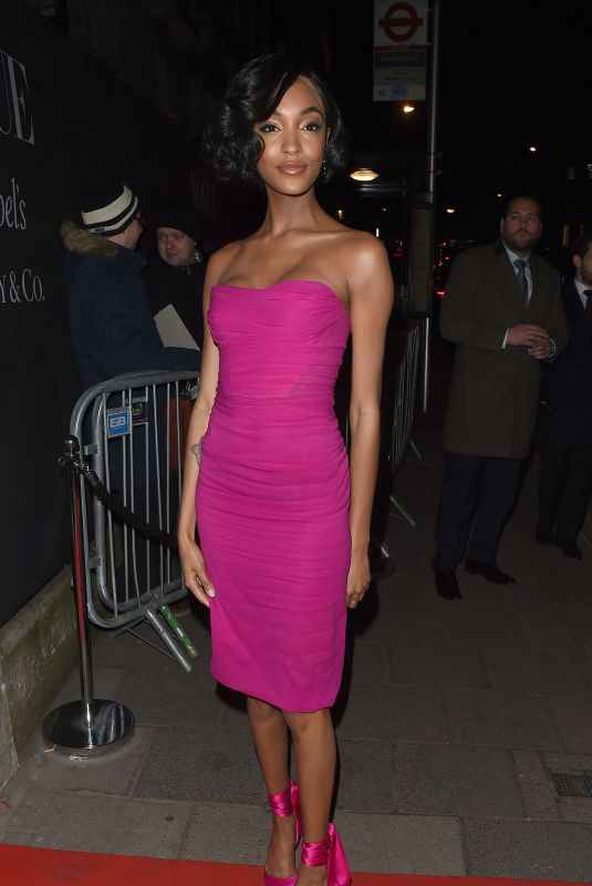 JOURDAN DUNN at Vogue x Tiffany & Co Bafta Afterparty in London 02/18/2018