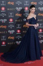 JUANA ACOSTA at 32nd Goya Awards in Madrid 02/03/2018