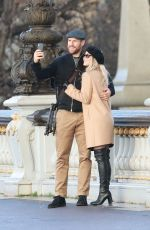JULIANNE HOUGH and Brooks Laich Out in Paris 02/01/2018