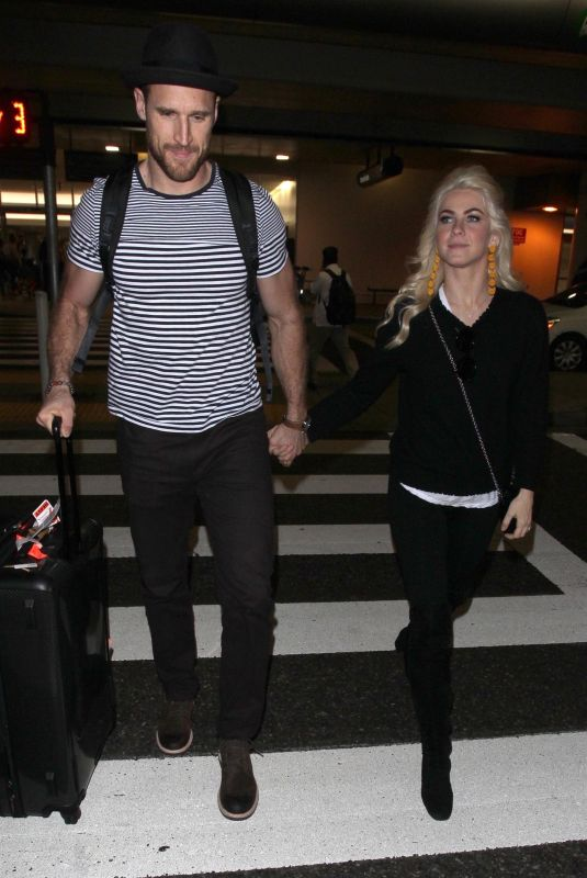 JULIANNE HOUGH at LAX Airport in Los Angeles 02/07/2018