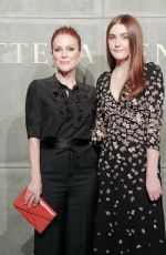 JULIANNE MOORE and Her Daughter LIV FREUNDLICH at Bottega Veneta Show at New York Fashion Week 02/09/2018