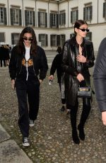 KAIA GERBER Arrives at Versace Fashion Show in Milan 02/23/2018