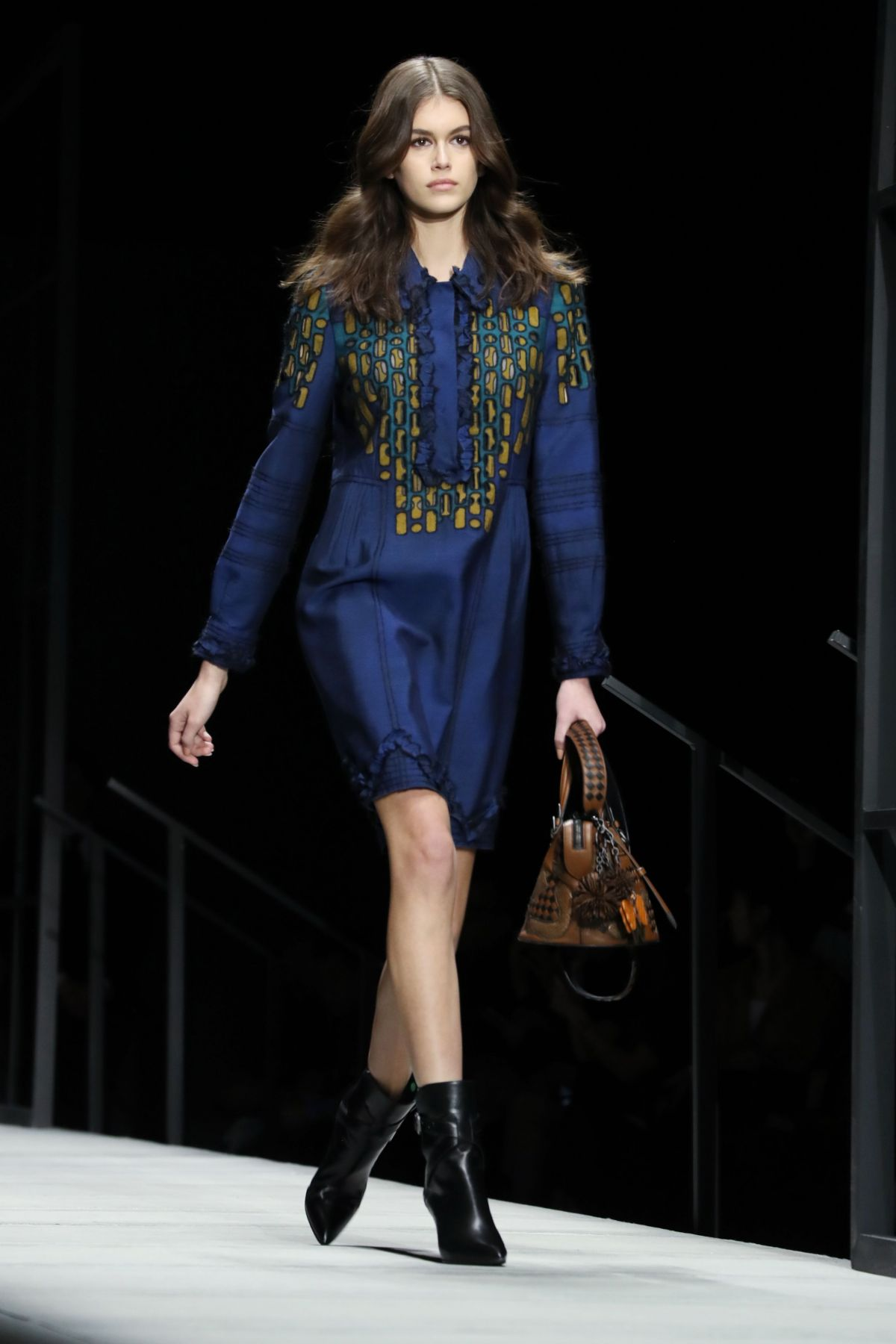 KAIA GERBER At Bottega Veneta Catwalk At New York Fashion