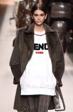 KAIA GERBER at Fendi Fashion Show at MFW in Milan 02/22/2018