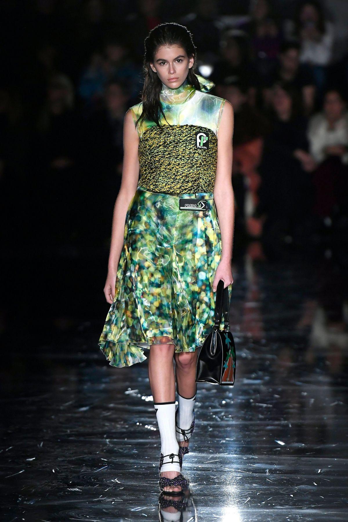 KAIA GERBER at Prada Show at Milan Fashion Week 02/22/2018 ...