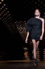 KAIA GERBER at Saint Laurent Show at Paris Fashion Week 02/27/2018