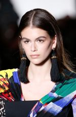 KAIA GERBER at Versace Runway Show at Milan Fashion Week 02/23/2018