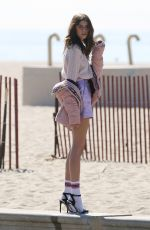 KAIA GERBER for Karl and Kaia Karl Lagerfeld Campaign on the Beach in Santa Monica 01/31/2018