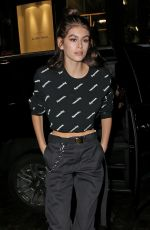 KAIA GERBER Night Out in New York 02/11/2018