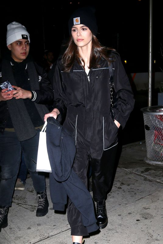 KAIA GERBER Night Out in New York 02/13/2018