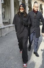 KAIA GERBER Out and About in Milan 02/21/2018