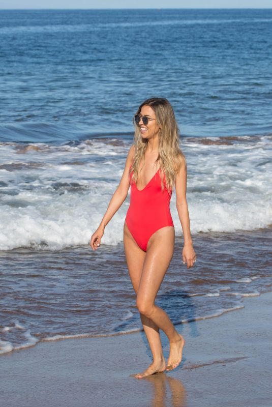 KAITLYN BRISTOWE in Red Swimsuit at a Beach in Hawaii 01/26/2018