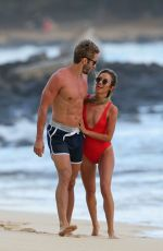 KAITLYN BRISTOWE in Swimsuit and Shawn Booth at a Beach in Hawaii 02/04/2018