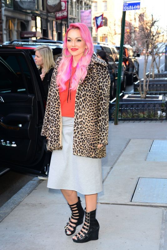 KANDEE JOHNSON Arrives at AOL Build Series in New York 02/27/2017