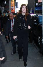 KAREN GILLAN Arrives at Good Morning America in New York 02/27/2018